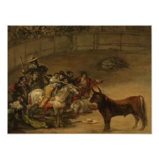 Francisco Goya - Bullfight, Suerte de Varas Kunst Foto