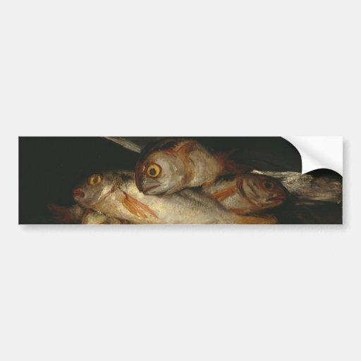 Francisco Goya - Stillleben mit goldenem Brachsen Auto Sticker
