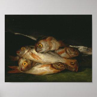 Francisco Goya - Stillleben mit goldenem Brachsen Poster
