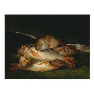 Francisco Goya - Stillleben mit goldenem Brachsen Postkarte