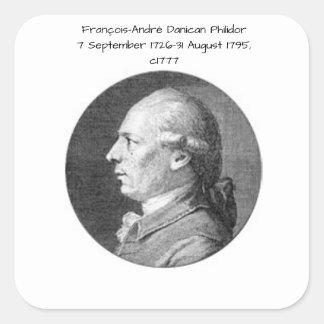 Francois Andre Danican Philidor Quadratischer Aufkleber