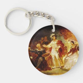 Francois die Ist, Rosso durch Jean Fragonard Einseitiger Runder Acryl Schlüsselanhänger