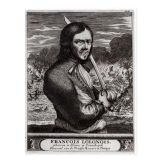 Francois Lolonois, General der Franzosen Postkarte