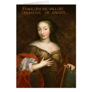 Francoise-Madeleine d Orleans Herzogin des Wirsing Grußkarte