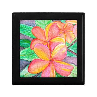 Frangipani-Blumen Erinnerungskiste
