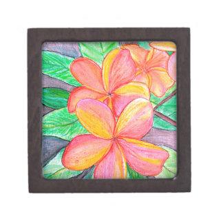 Frangipani-Blumen Schachtel