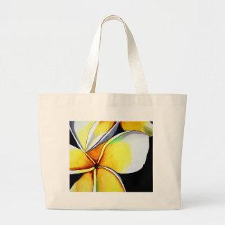 Frangipani-Blumenkunst Jumbo Stoffbeutel