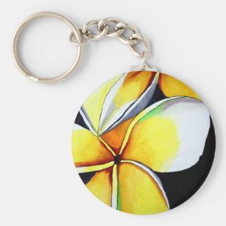 Frangipani-Blumenkunst-Schlüsselkette Schlüsselanhänger