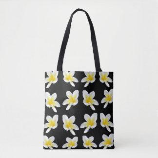 Frangipani-Empfindung, volle Druck-Einkaufstasche Tasche