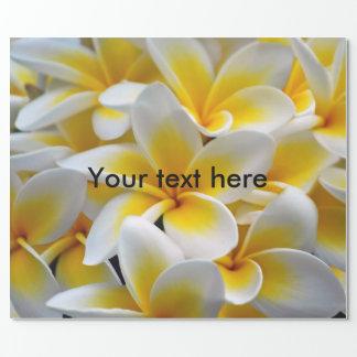 Frangipaniplumeria-Blumen Einpackpapier