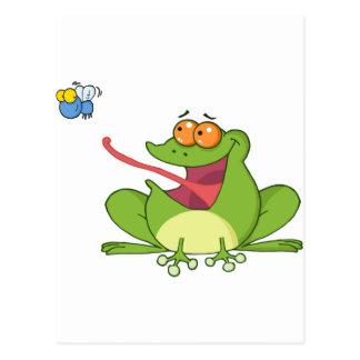 Frank der Frosch mit Buzzy die Fliege Postkarte