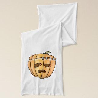 Franken-Kürbis gespenstischer Halloween-Entwurf Schal