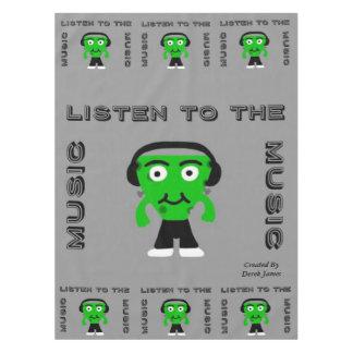 FrankenCheese hören zur Musik-Tischdecke Tischdecke