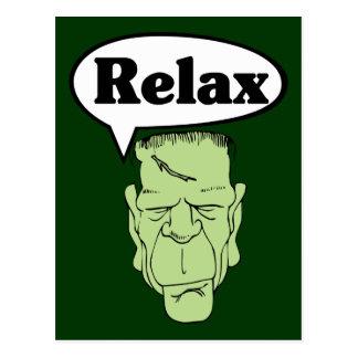 Frankenstein entspannen sich Postkarte
