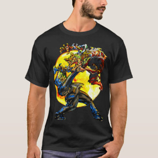 Frankenstein gegen das Wolfman T-Shirt
