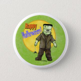 Frankenstein Halloween Runder Button 5,7 Cm