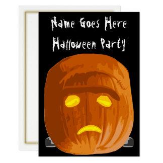 Frankenstein Kürbis-Halloween-Party-Einladung Karte