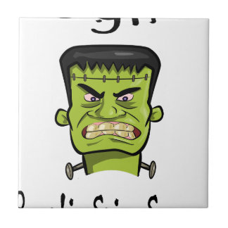 Frankenstein Kürbisgewürz Keramikfliese