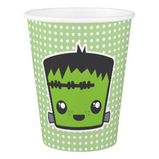 Frankenstein Monster-Halloween-Party-Schalen Pappbecher