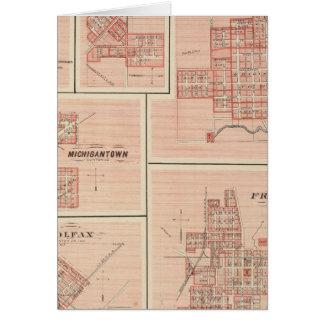 Frankfort, Clinton Co mit Tipton Karte