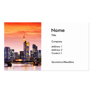 Frankfurt am Main 002A Visitenkartenvorlage