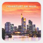 Frankfurt am Main 02C Quadratischer Aufkleber