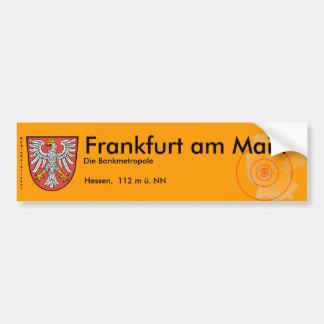 Frankfurt am Main 2 Autoaufkleber