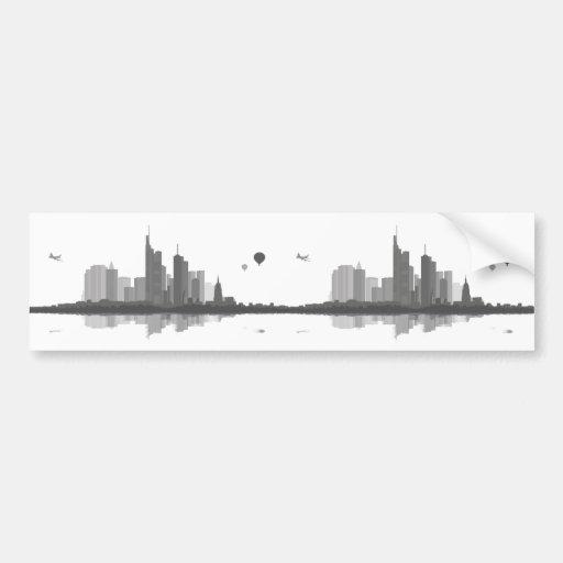 Frankfurt am Main Skyline Aufkleber Autosticker
