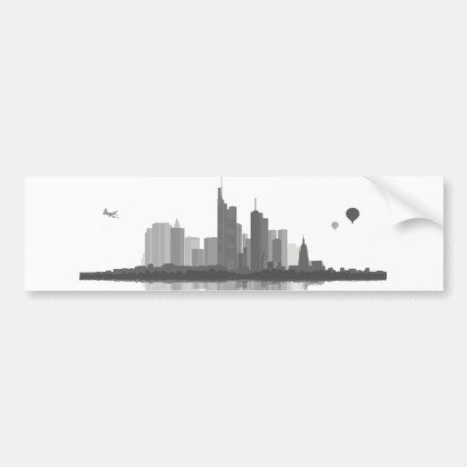 Frankfurt am Main Skyline Aufkleber Autoaufkleber