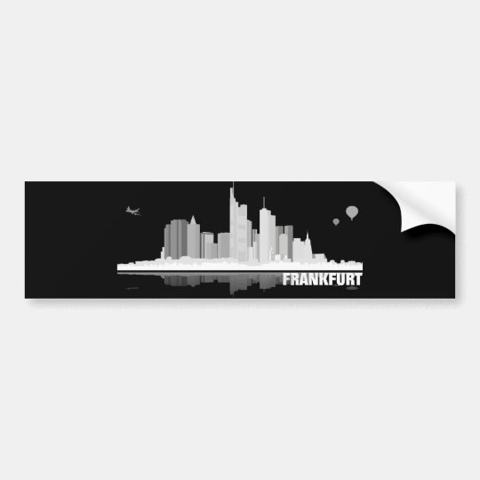 Frankfurt City Skyline Autoaufkleber / Aufkleber