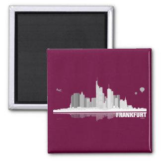 Frankfurt City Skyline Magnet / Kühlschrankmagnet