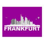 Frankfurt City Skyline Postkarte