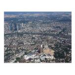 Frankfurt Deutschland vom Himmel Postkarten