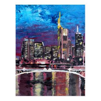 Frankfurt Hauptdeutschland - Mainhattan Skyline Postkarte