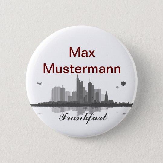 Frankfurt Skyline Button / Anstecker / Pin