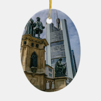 Frankfurt-Skyline Keramik Ornament