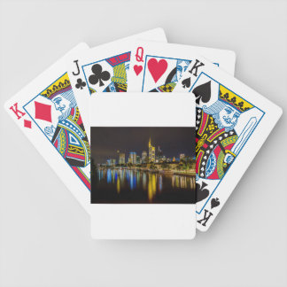 Frankfurt-Skyline nachts Bicycle Spielkarten
