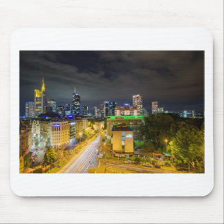 Frankfurt-Skyline nachts Mousepad