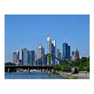 Frankfurt-Skyline Postkarte