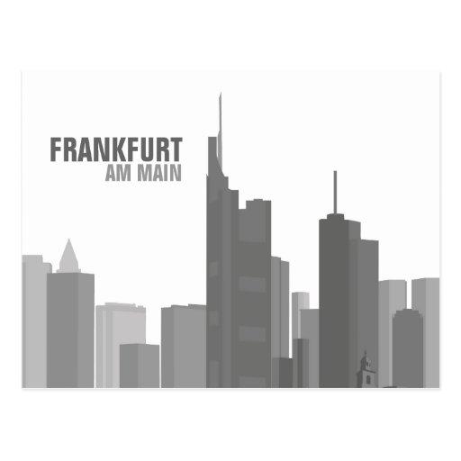 Frankfurt Skyline - Postkarte / Grußkarte