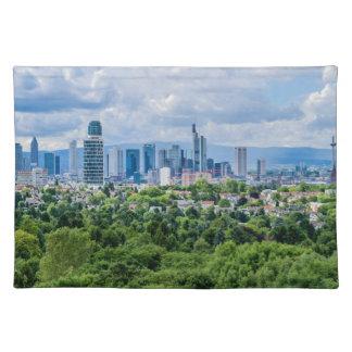 Frankfurt-Skyline Stofftischset