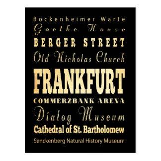 Frankfurt-Stadt der Deutschland-Typografie-Kunst Postkarte