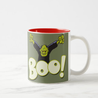 Frankie Antiheld-Superheld Frankenstein Halloween Zweifarbige Tasse