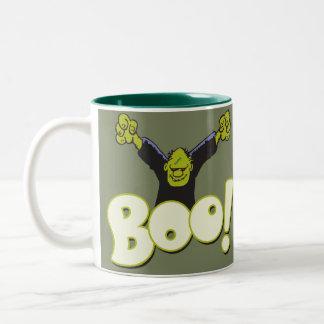 Frankie Monster-Superheld Frankenstein Halloween Zweifarbige Tasse