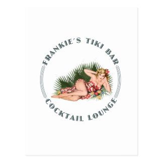 Frankies Tiki Bar Hula Mädchen-Bar Postkarte