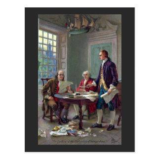 Franklin, Adams und Jefferson in Philadelphia 1776 Postkarte