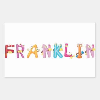 Franklin-Aufkleber Rechteckiger Aufkleber