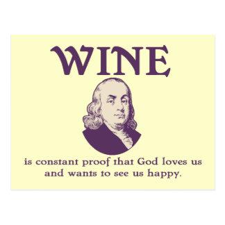Franklin - Wein Postkarte