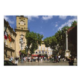 Frankreich, Aix-en-Provence, La Place de la Maire Fotografische Drucke