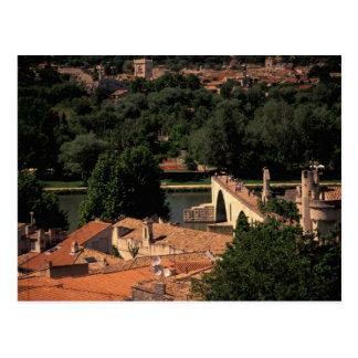 Frankreich, Avignon, Provence. Pont St., Benezet. Postkarte